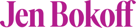 Purple logo that reads Jen Bokoff